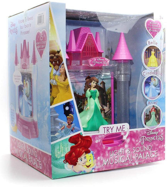 Playthings Disney Princess Light & Sound Musical Palace Belle, Cinderella & Ariel