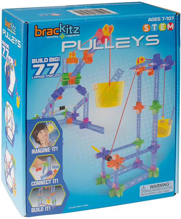 Brackitz Pulleys (77Pieces) Building Toy