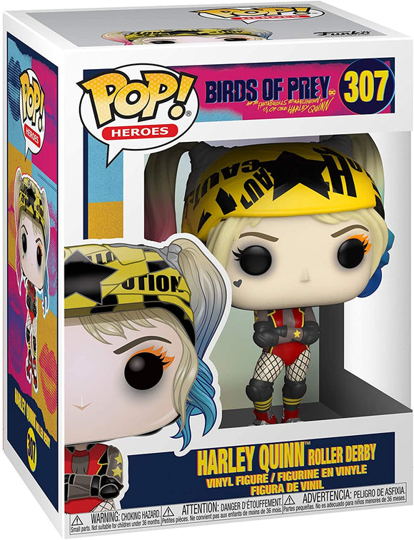 Funko Pop! Heroes Birds of Prey Harley Quinn Roller Derby #307 Multicolour Vinyl Figure 889698443760 B07SM88R4K BrickPops