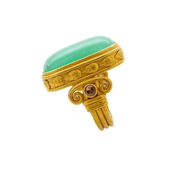 Corinthea Chrysoprase Ring