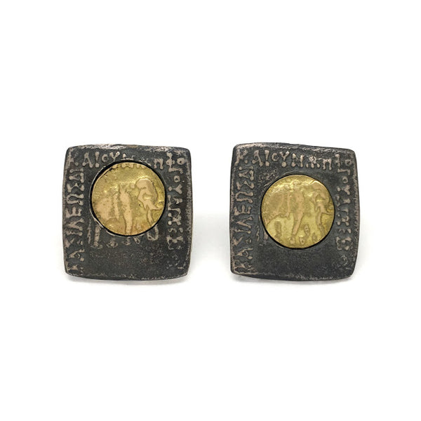 Stud earrings with friction backs