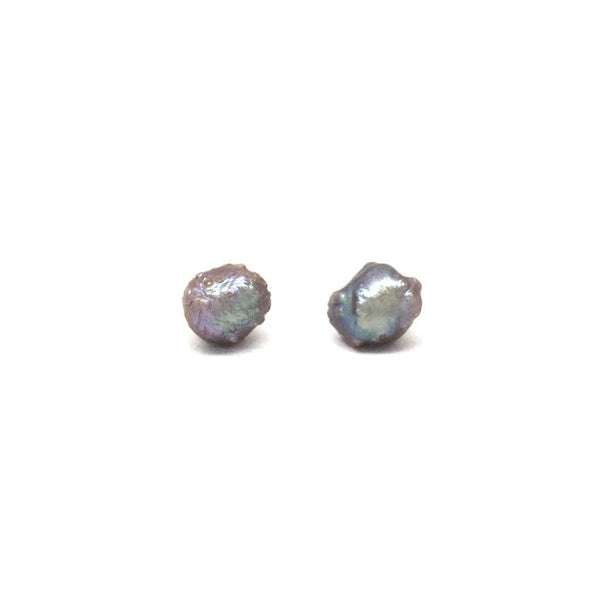 Metallic grey with rose overtones rose bud freshwater pearls