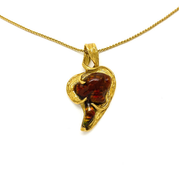 Heart shaped Fire Agate