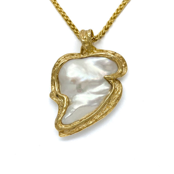 Two sided heart shaped freshwater pearl
