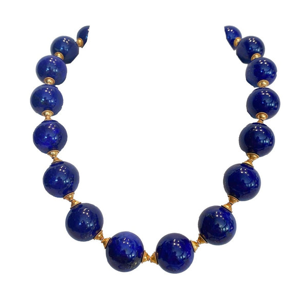 High quality Lapis Lazuli beaded necklace