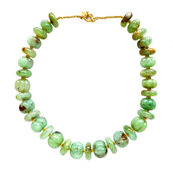 Lola Hand Carved Chrysoprase Necklace