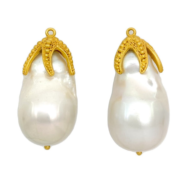 Starfish Baroque Pearl Drops