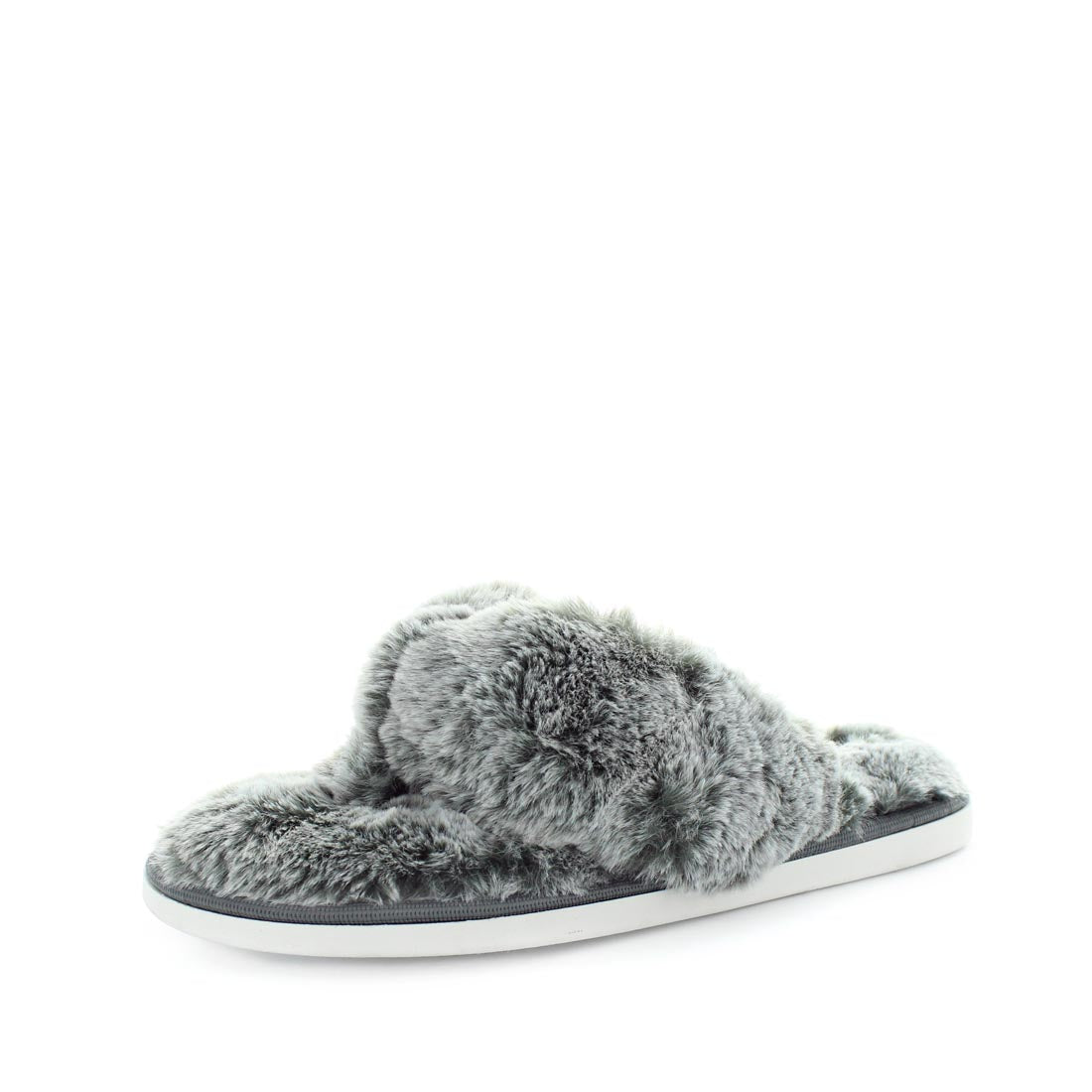 EDORA by PANDA - iShoes - Nwomens slippers - thong slippers - comfort extra padded insole slippers for women - faux fur detailing and extra soft fur for extra cosy feeling
