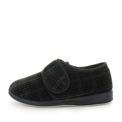 Eli by panda slippers - mens slipers - mens comfort slippers - faux lining and sock - flexible outsole - mens warm slippers - indoor and outdoor slippers .