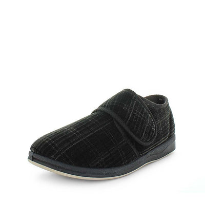 Eli by panda slippers - mens slipers - mens comfort slippers - faux lining and sock - flexible outsole - mens warm slippers - indoor and outdoor slippers .3