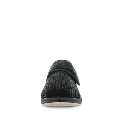 Eli by panda slippers - mens slipers - mens comfort slippers - faux lining and sock - flexible outsole - mens warm slippers - indoor and outdoor slippers
