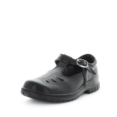 Jarrell by wilde school shoes - back to school shoes - leather shoes for kids - junior kids school shoes - kids shoes - school shoes - bts - black shoes - adjustable straps