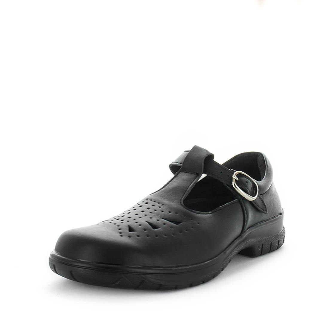 Youth school shoes, girls school shoes, leather school shoes, strapped school shoes