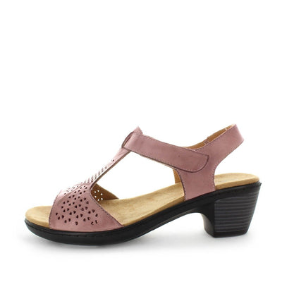 leather sandal, womens leather sandal, ladies comfort sandal, velcro sandal, adjustable velcro sandal, soft tread, allino, belair