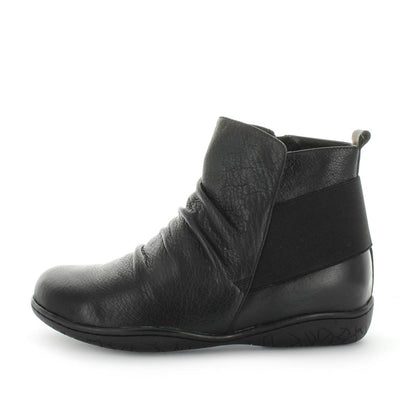 womens leather ankle boot, flat ankle boot, comfort ankle boot, leather ankle boot womens, soft tread, ishoes