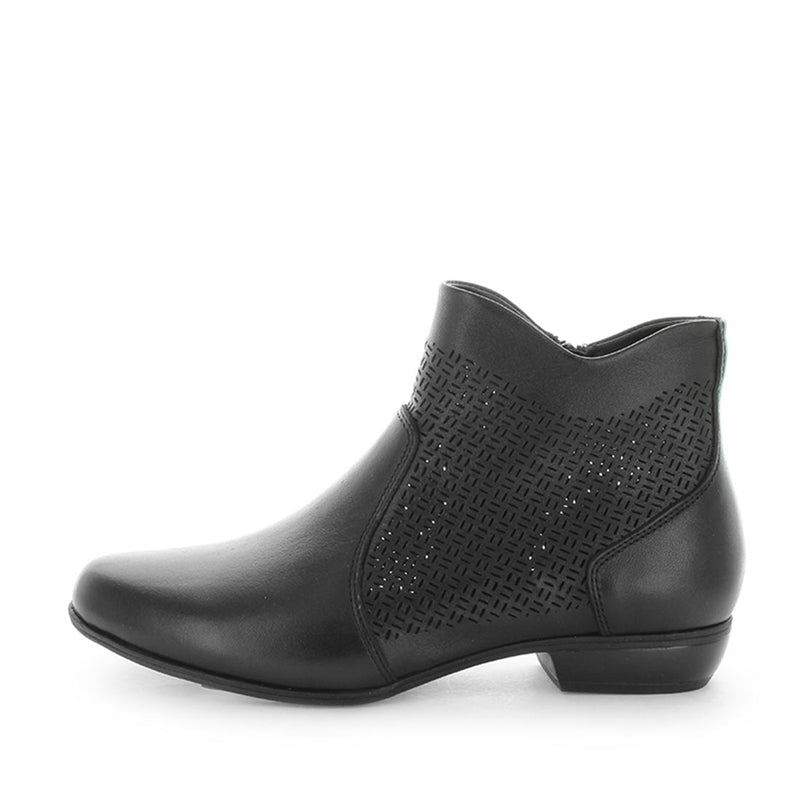 boas, soft tread, allino, classic boot, classic leather boot, leather boot, flexible boot, flexible sole boot, side zip boot, side zip leather boot, black boot, black ankle boot