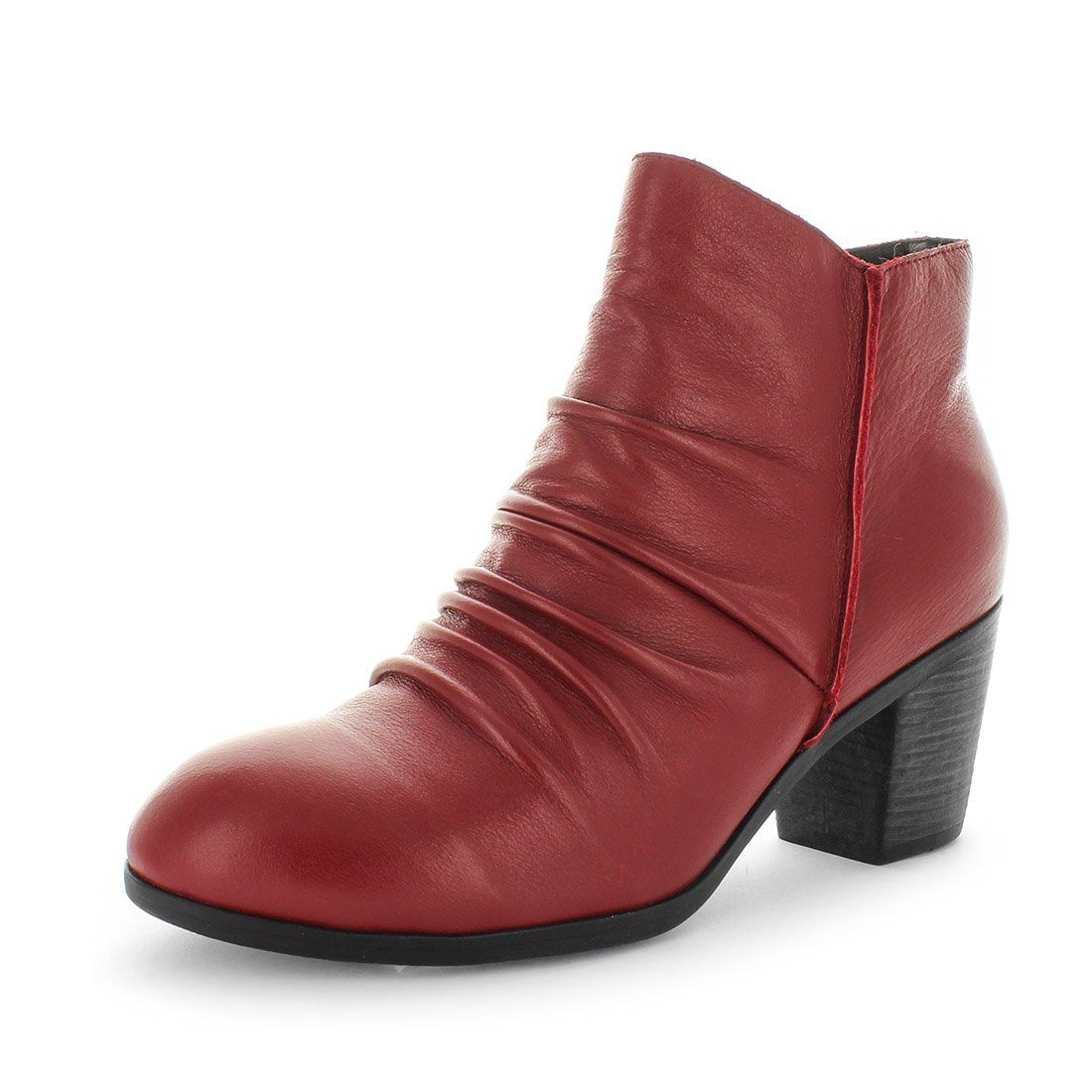 womens boots, womens ankle boots, rouched boots, comfort boots