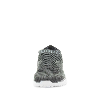 cadell, just bee, comfort shoe, comfortable shoe, non-slip shoes, womens shoes, ladies shoes, knitted womens shoes, ultra light shoes, lightweight womens shoes, feather-lite shoes, featherlite shoes, grey shoes, grey slip on, knitted slip ons