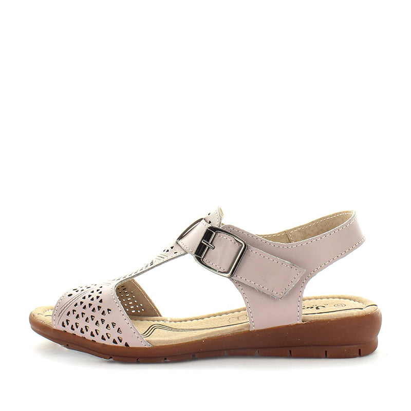 womens comfort shoes, womens shoes, womens leather affordable shoes, Just Bee Catalina - make-up, leather womens summer slip-on sandal with comfort insoles. the perfect women's shoe for all occasions with, designed with a sandal style fit and trendy look