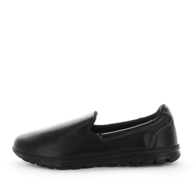 Slip-on style womens shoes by just bee - just bee comfort - ishoes - leather shoes - leather womens shoes - lightweight shoes - comfort, leather womens shoes featherlite techonology