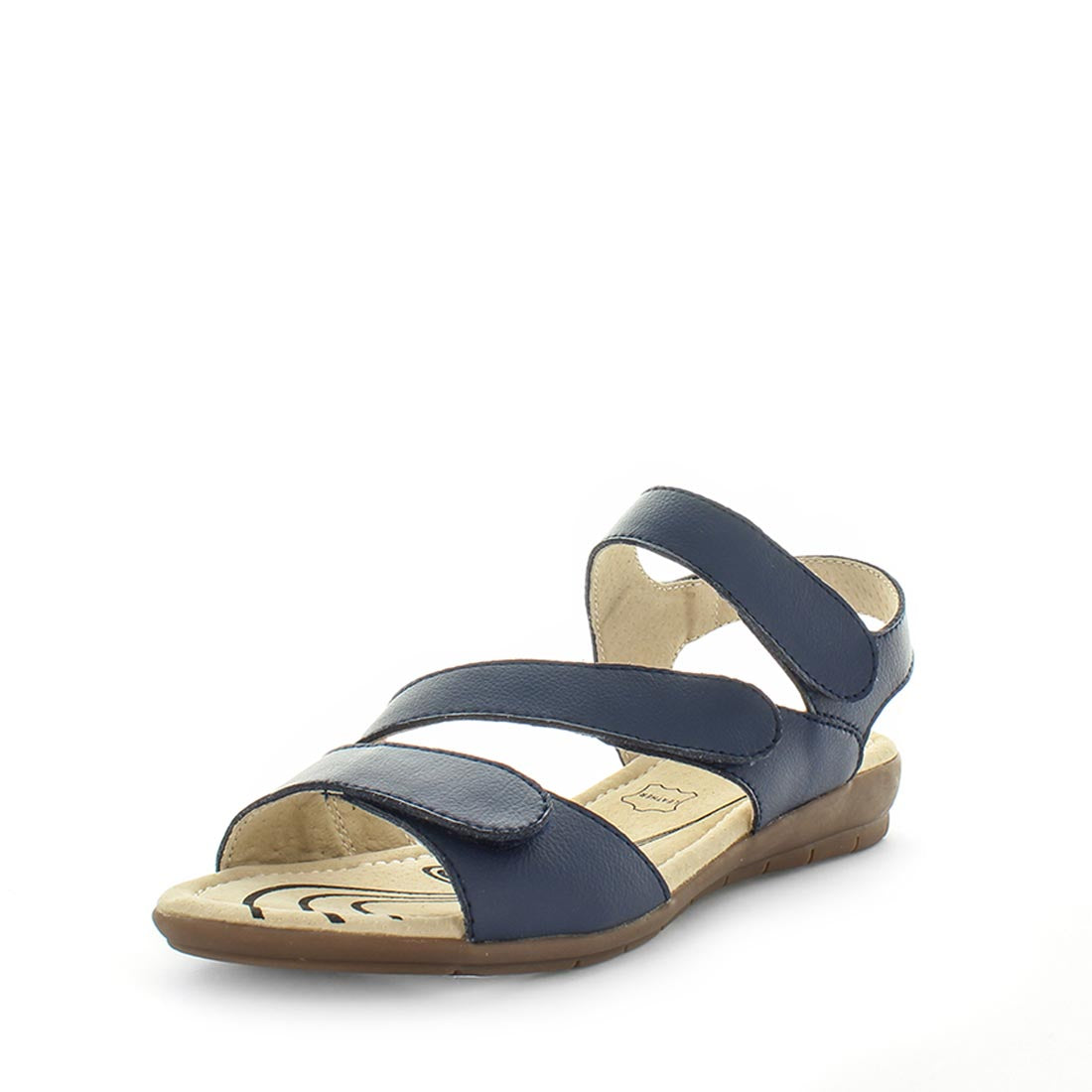 Chiara by Just Bee - ishoes - Women's Shoes, Women's Shoes: Flats, sandals, slip-ons, Sandals shoes, fashion shoes,  comfort shoes, women's sandals, casual shoes, casual footwear, comfort footwear, basic sandals with a comfort footbed in navy
