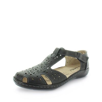 t-bar shoe, t-bar sandal, womens shoes, ladies shoes, womens t-bar, leather t-bar, leather shoe, leather sandal, comfortable sandal, comfort shoe, velcro t-bar, velcro sandal, just bee, chifley