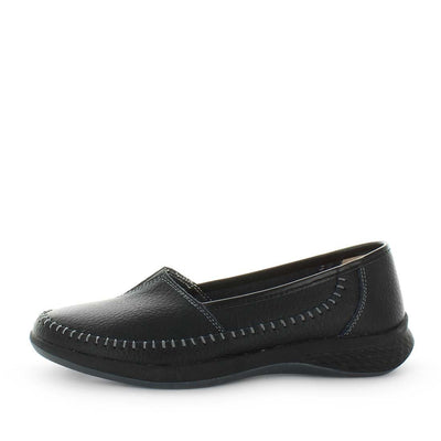 clarence, just bee, slip on, leather, comfort