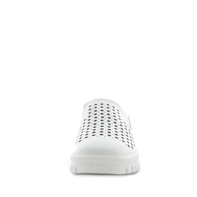 womens comfort shoes, womens shoes, womens leather affordable shoes, Just Bee cotta -white, leather womens shoe with comfort insoles. the perfect women's shoe for all occasions. laser cut upper detail