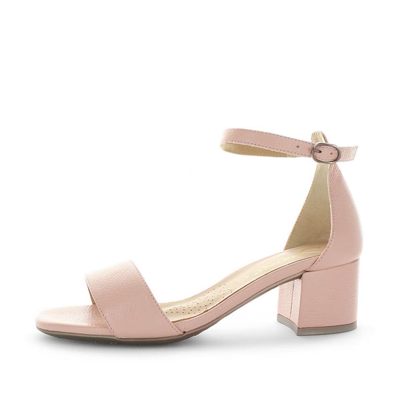 Darice by desiree - womens shoes - womens hells - womens block heels - womensdress heels - smart shoes with small adjustable buckle and comfort fit in pink