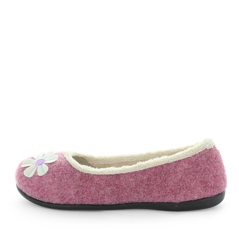 elgin, panda slippers, womens warm comfort slip on slippers, non-slip rubber slippers, cushioned ladies slippers, pink colour womens/ladies ballet non-slip slippers,