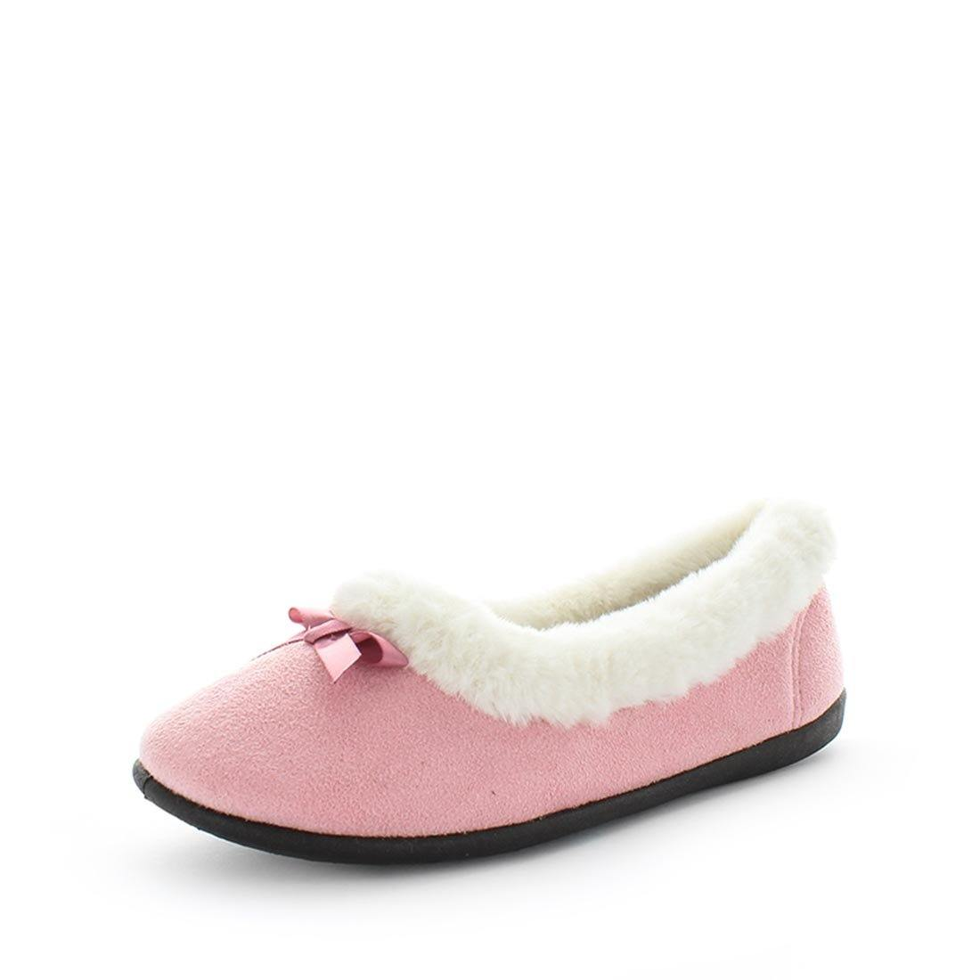 Elmo by panda slippers - ishoes - womens slippers - memory foam slippers - womens ballet slippers - all year slippers - cute felt ballet slipper by panda slippers with microterry lining, faux fur collar trim and a memory foam sock for extra comfort