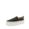 gluuglu by the Flexx - comfort slip-on style shoe - made from quality leather materials with rope like trimming and extra comfort insole for a comfortable fit and stylish look - black and white