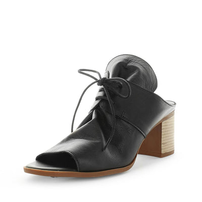 Hepburn by Zola - iShoes - heels, womens heels, womens block heels - soft detailed leather upper with lace-up closure - block heel unit with padded insole for comfort