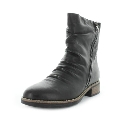 Women's boots - Hetina by Zola - ishoes - women's comfort boots - women's shoes - women's comfort shoes - leather shoes - women's leather boots - Soft leather boot with side zip and block heel for women