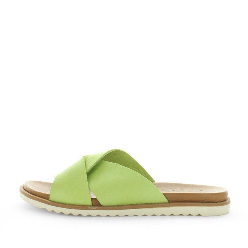 Hisp by zola - comfort slides - soft leather cross over detail with comfort insole - leather good - womens slides - womens sandals - womens summer shoes