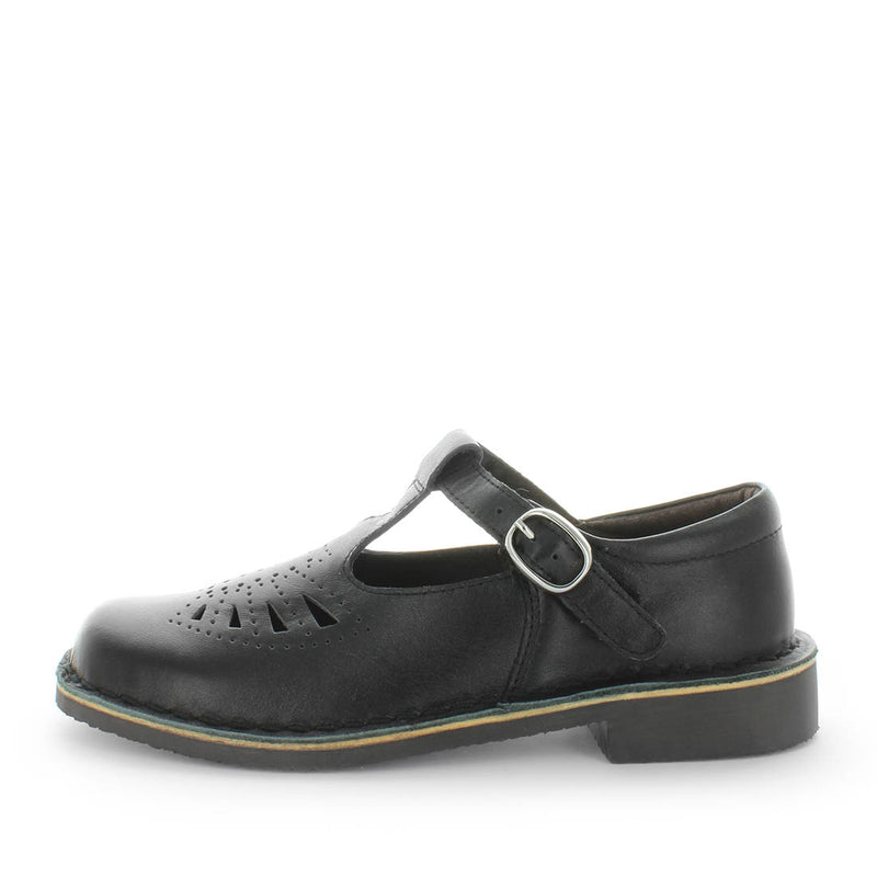 Jeanie by wilde school shoes - back to school shoes - leather shoes for teens and senior school - Senior kids school shoes - kids shoes - school shoes - bts - black shoes - lace-up closure