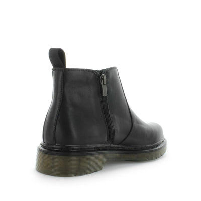 Jukes by wilde school shoes - back to school shoes - leather shoes for teens and senior school - Senior kids school shoes - kids shoes - school shoes - bts - black shoes - lace-up closure - boot style school shoes - black boots - womens boots - black womens boots