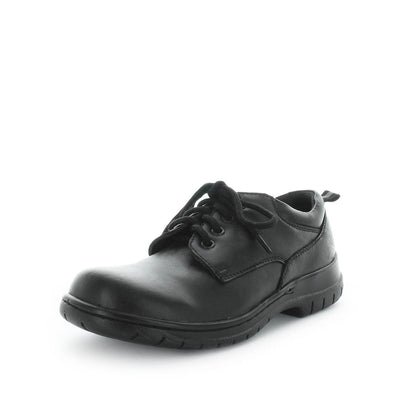 Justice by wilde school shoes - back to school shoes - leather shoes for kids - junior kids school shoes - kids shoes - school shoes - bts - black shoes - Lace up