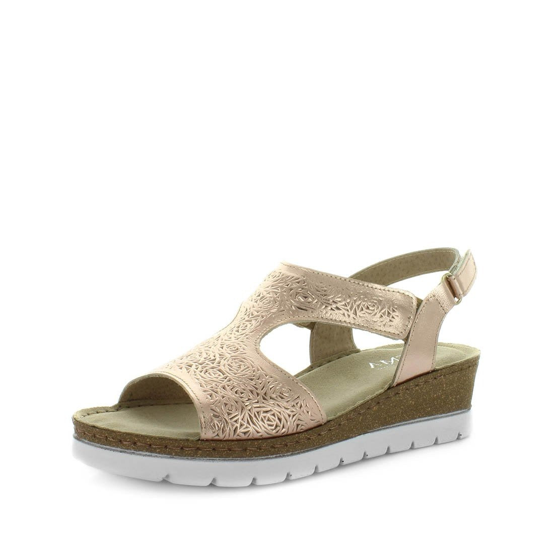 Atema sandal, wedges, womens wedges, ladies wedge sandal, leather wedge, leather sandal with buckle, back strap wedge, lamas