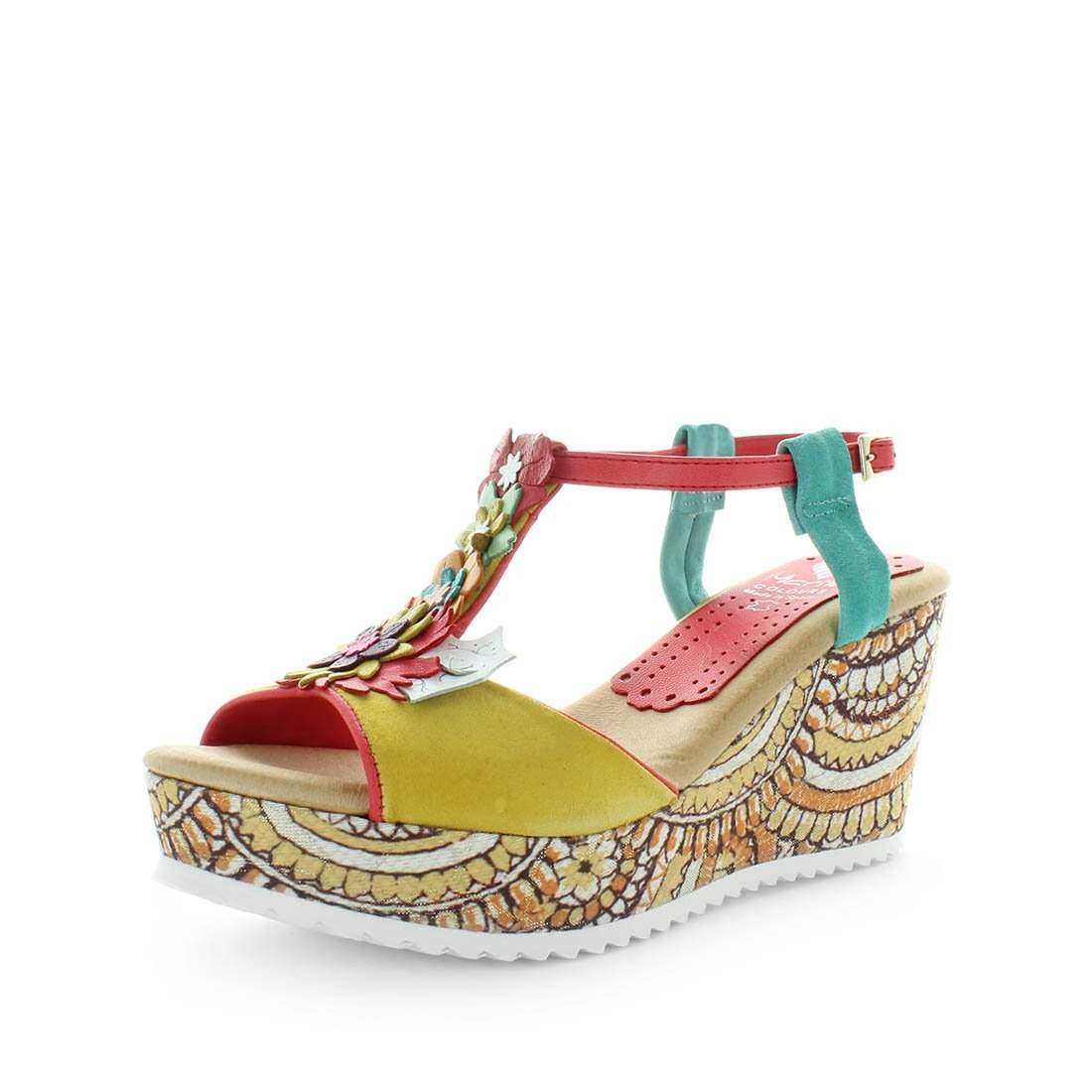 womens colourful wedges, womens wedges, womens spanish shoes, ladies wedges, leather wedge sandal, sandals from spain, made in spain, marila shoes, maura