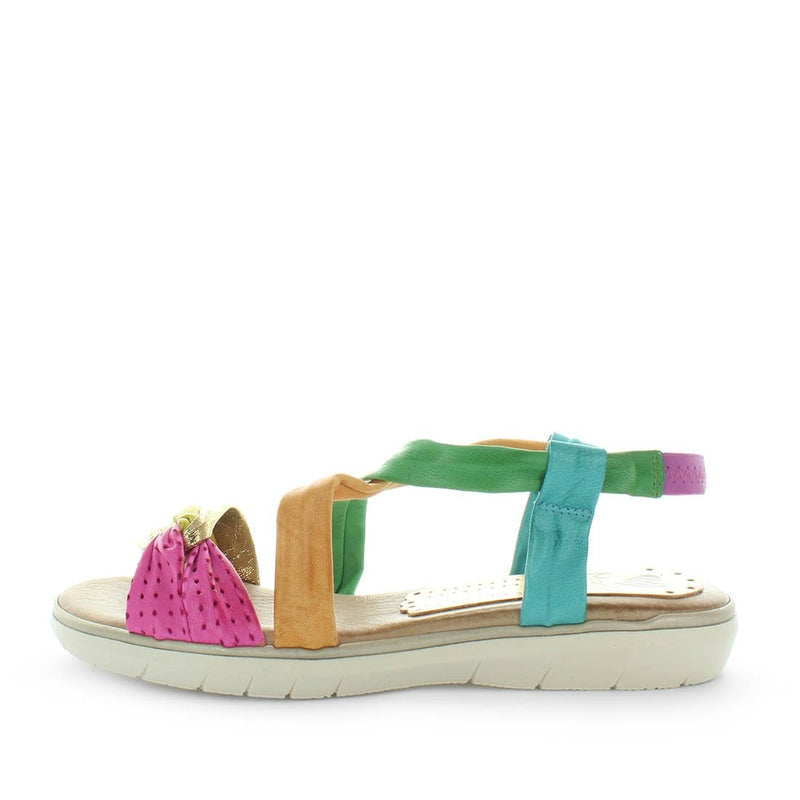 colourful sandals, womens comfort sandals, spanish sandals, leather comfort sandal, leather slip on sandal, made in spain, marila, mel