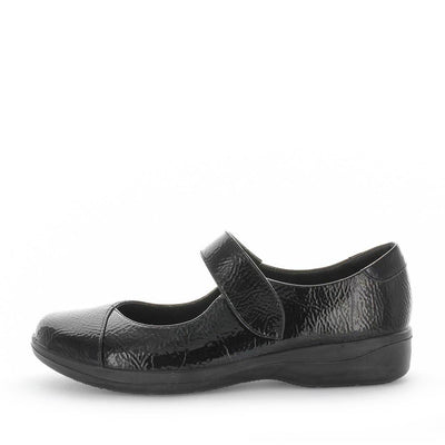 womens synthetic mary jane flats, velcro strap shoes, womens mary janes