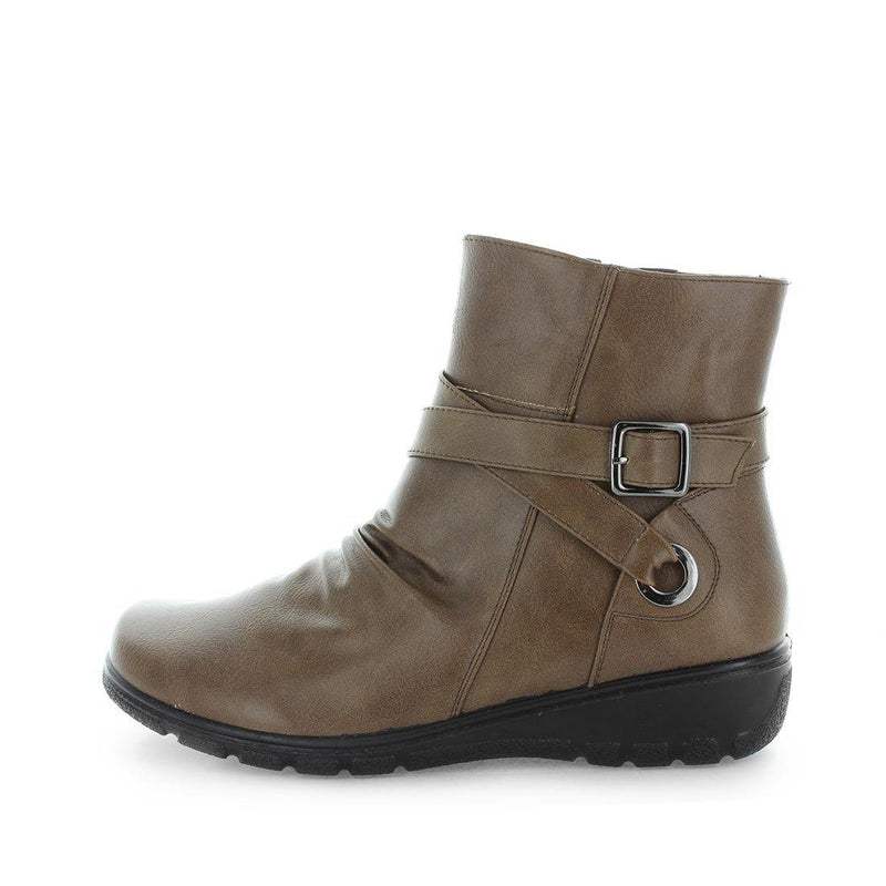 womens boots, womens memory foam boots, womens ankle boots, womens synthetic boots, muesta aerocushion