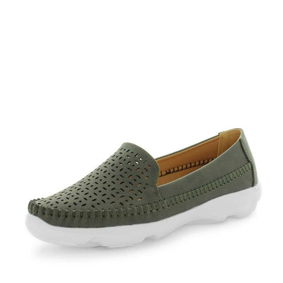 sheree, wilde shoes, womens flats, ladies flats, womens shoes, casual shoes, casual slip ons, comfort shoe, comfortable womens shoes, lightweight flats, khaki colour flats, khaki colour slip ons, khaki flats,