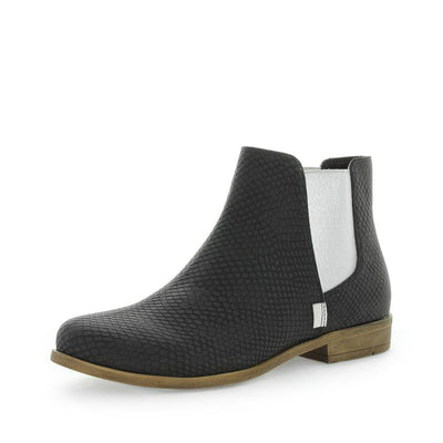 womens chelsea boot, womens black boots, womens faux leather boot