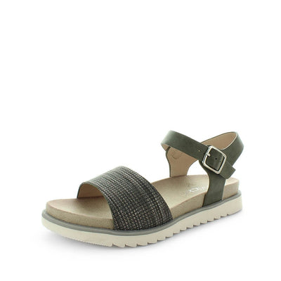 womens sandals, womens classic sandals, ladies classic sandals, womens synthetic sandals, ladies shoes, padded sock sandal, buckle fastening sandal, comfortable sandal, thick sole sandal, wilde, starey