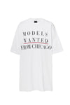 MODELS WANTED SLOGAN TEE