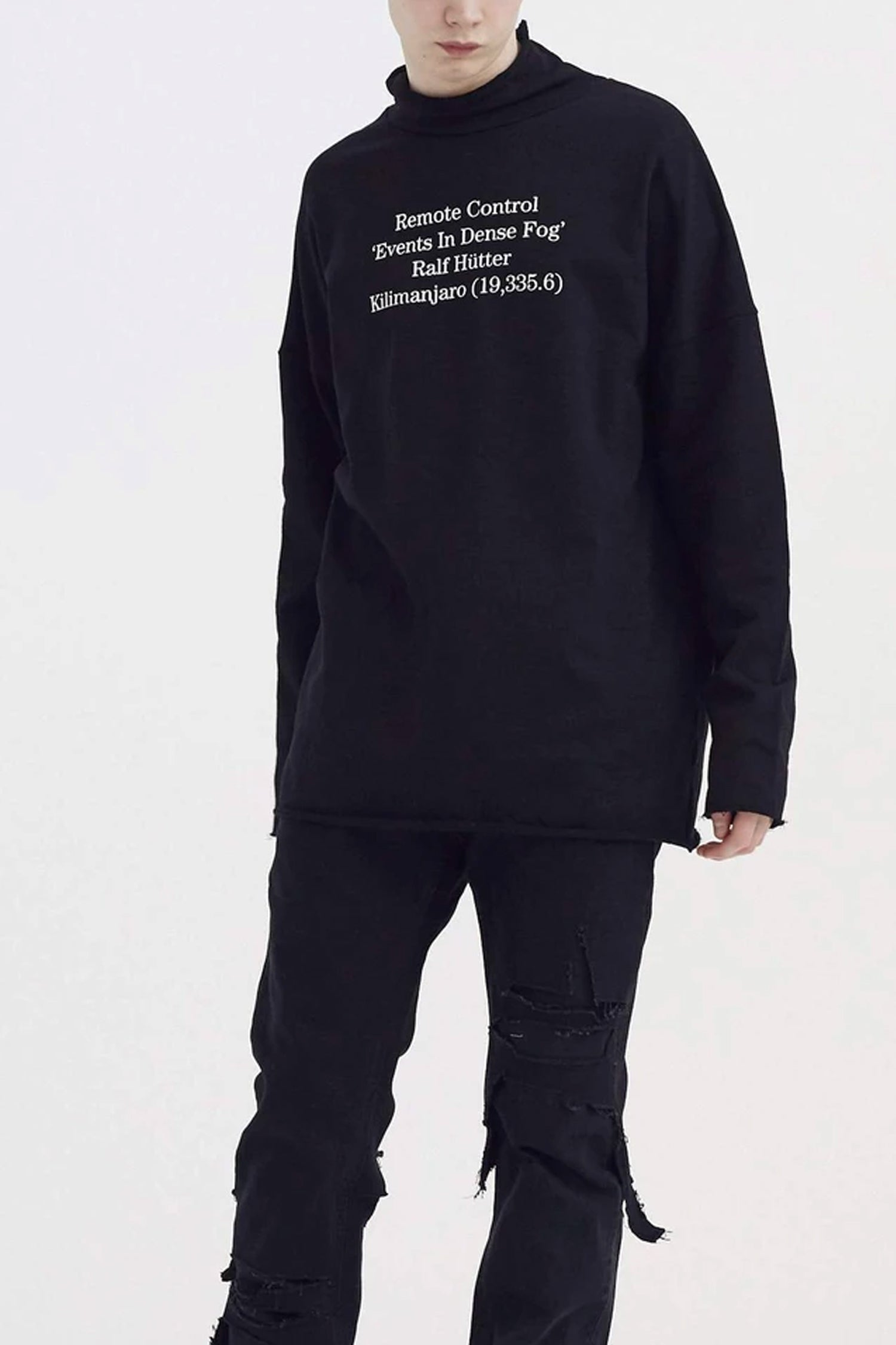 SWEATSHIRT WITH WORDING