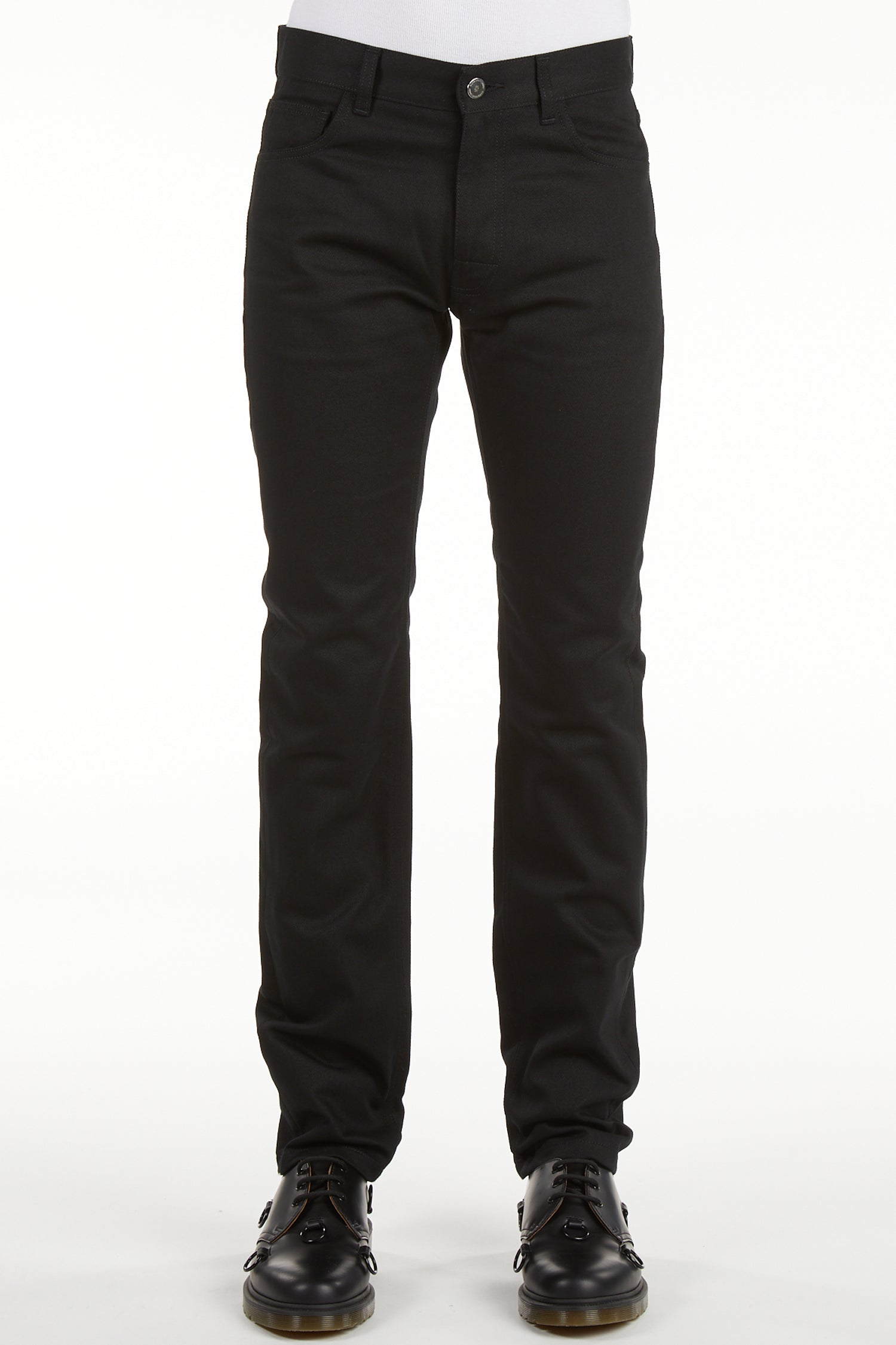 SLIM FIT DENIM PANTS W LABEL
