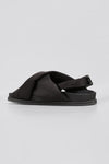 CROSS STRAP SANDAL (SATIN)